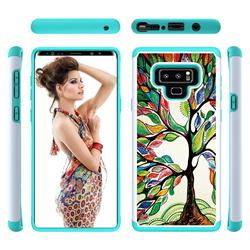 Multicolored Tree Shock Absorbing Hybrid Defender Rugged Phone Case Cover for Samsung Galaxy Note9
