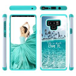 Sea and Tree Shock Absorbing Hybrid Defender Rugged Phone Case Cover for Samsung Galaxy Note9