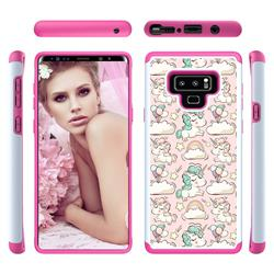 Pink Pony Shock Absorbing Hybrid Defender Rugged Phone Case Cover for Samsung Galaxy Note9