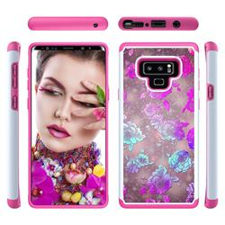 peony Flower Shock Absorbing Hybrid Defender Rugged Phone Case Cover for Samsung Galaxy Note9