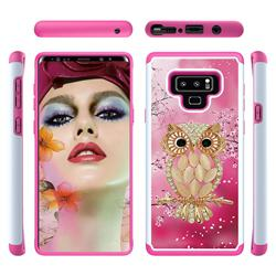 Seashell Cat Shock Absorbing Hybrid Defender Rugged Phone Case Cover for Samsung Galaxy Note9