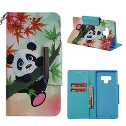 Bamboo Panda Big Metal Buckle PU Leather Wallet Phone Case for Samsung Galaxy Note9