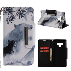 Target Tiger Big Metal Buckle PU Leather Wallet Phone Case for Samsung Galaxy Note9