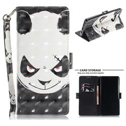 Angry Bear 3D Painted Leather Wallet Phone Case for Samsung Galaxy Note9