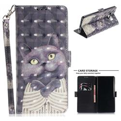 Cat Embrace 3D Painted Leather Wallet Phone Case for Samsung Galaxy Note9