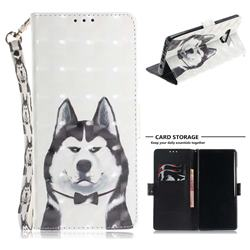 Husky Dog 3D Painted Leather Wallet Phone Case for Samsung Galaxy Note9
