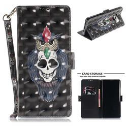 Skull Cat 3D Painted Leather Wallet Phone Case for Samsung Galaxy Note9