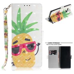 Pineapple Glasses 3D Painted Leather Wallet Phone Case for Samsung Galaxy Note9