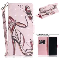 Butterfly High Heels 3D Painted Leather Wallet Phone Case for Samsung Galaxy Note9