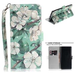 Watercolor Flower 3D Painted Leather Wallet Phone Case for Samsung Galaxy Note9