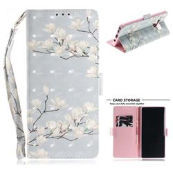 Magnolia Flower 3D Painted Leather Wallet Phone Case for Samsung Galaxy Note9