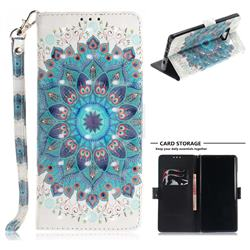 Peacock Mandala 3D Painted Leather Wallet Phone Case for Samsung Galaxy Note9