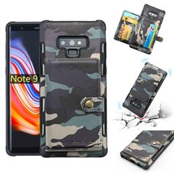 Camouflage Multi-function Leather Phone Case for Samsung Galaxy Note9 - Gray