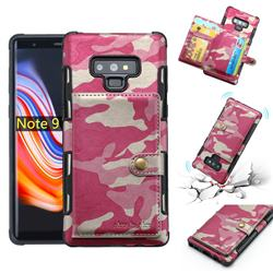 Camouflage Multi-function Leather Phone Case for Samsung Galaxy Note9 - Rose