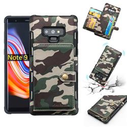 Camouflage Multi-function Leather Phone Case for Samsung Galaxy Note9 - Army Green