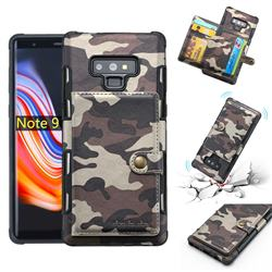 Camouflage Multi-function Leather Phone Case for Samsung Galaxy Note9 - Coffee