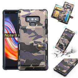 Camouflage Multi-function Leather Phone Case for Samsung Galaxy Note9 - Purple