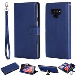 Retro Greek Detachable Magnetic PU Leather Wallet Phone Case for Samsung Galaxy Note9 - Blue