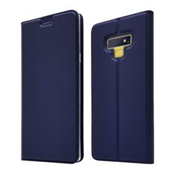 Ultra Slim Card Magnetic Automatic Suction Leather Wallet Case for Samsung Galaxy Note9 - Royal Blue