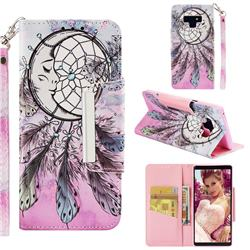 Angel Monternet Big Metal Buckle PU Leather Wallet Phone Case for Samsung Galaxy Note9