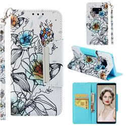Fotus Flower Big Metal Buckle PU Leather Wallet Phone Case for Samsung Galaxy Note9