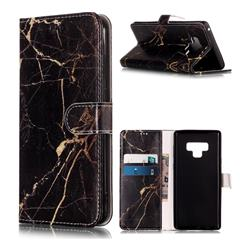 Black Gold Marble PU Leather Wallet Case for Samsung Galaxy Note9