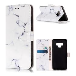 Soft White Marble PU Leather Wallet Case for Samsung Galaxy Note9