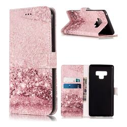 Glittering Rose Gold PU Leather Wallet Case for Samsung Galaxy Note9
