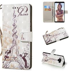Tower Couple 3D Painted Leather Wallet Phone Case for Samsung Galaxy Note9