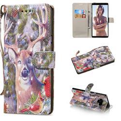 Elk Deer 3D Painted Leather Wallet Phone Case for Samsung Galaxy Note9