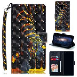 Tiger Totem 3D Painted Leather Phone Wallet Case for Samsung Galaxy Note9