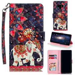 Phoenix Elephant 3D Painted Leather Phone Wallet Case for Samsung Galaxy Note9