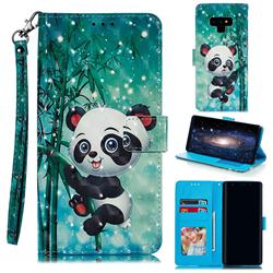 Cute Panda 3D Painted Leather Phone Wallet Case for Samsung Galaxy Note9