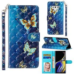 Rankine Butterfly 3D Leather Phone Holster Wallet Case for Samsung Galaxy Note9