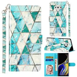 Stitching Marble 3D Leather Phone Holster Wallet Case for Samsung Galaxy Note9