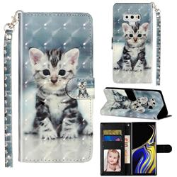 Kitten Cat 3D Leather Phone Holster Wallet Case for Samsung Galaxy Note9