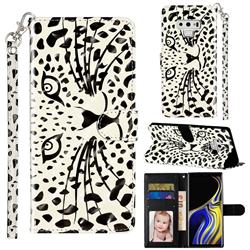 Leopard Panther 3D Leather Phone Holster Wallet Case for Samsung Galaxy Note9