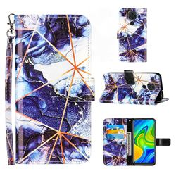 Starry Blue Stitching Color Marble Leather Wallet Case for Samsung Galaxy Note9