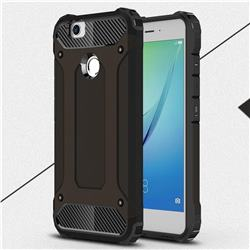 King Kong Armor Premium Shockproof Dual Layer Rugged Hard Cover for Huawei Nova - Black Gold
