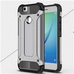 King Kong Armor Premium Shockproof Dual Layer Rugged Hard Cover for Huawei Nova - Silver Grey