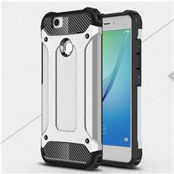 King Kong Armor Premium Shockproof Dual Layer Rugged Hard Cover for Huawei Nova - Technology Silver