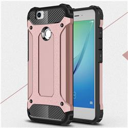 King Kong Armor Premium Shockproof Dual Layer Rugged Hard Cover for Huawei Nova - Rose Gold