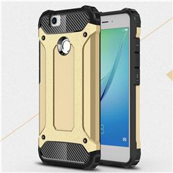 King Kong Armor Premium Shockproof Dual Layer Rugged Hard Cover for Huawei Nova - Champagne Gold