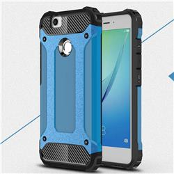 King Kong Armor Premium Shockproof Dual Layer Rugged Hard Cover for Huawei Nova - Sky Blue