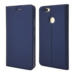 Ultra Slim Card Magnetic Automatic Suction Leather Wallet Case for Huawei Nova - Royal Blue