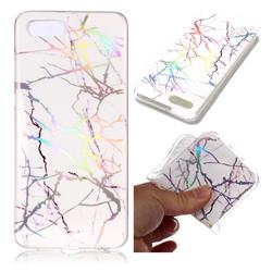 Color White Marble Pattern Bright Color Laser Soft TPU Case for Huawei Nova 2s