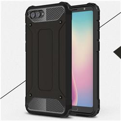 King Kong Armor Premium Shockproof Dual Layer Rugged Hard Cover for Huawei Nova 2s - Black Gold