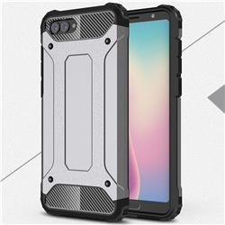 King Kong Armor Premium Shockproof Dual Layer Rugged Hard Cover for Huawei Nova 2s - Silver Grey