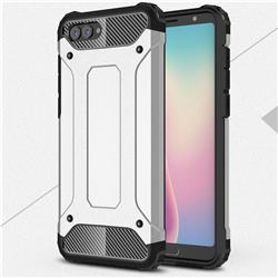King Kong Armor Premium Shockproof Dual Layer Rugged Hard Cover for Huawei Nova 2s - Technology Silver