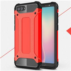 King Kong Armor Premium Shockproof Dual Layer Rugged Hard Cover for Huawei Nova 2s - Big Red
